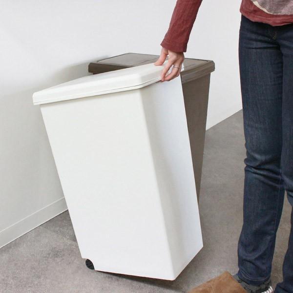 ゴミ箱 45リットル 分別 ふた付き 分別 スライドペール 45L ごみ箱 ダストボックス ( キッチン スライド キャスター スリム おしゃれ おすすめ )|interior-palette|15