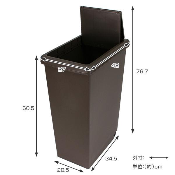 ゴミ箱 45リットル 分別 ふた付き 分別 スライドペール 45L ごみ箱 ダストボックス ( キッチン スライド キャスター スリム おしゃれ おすすめ )|interior-palette|05