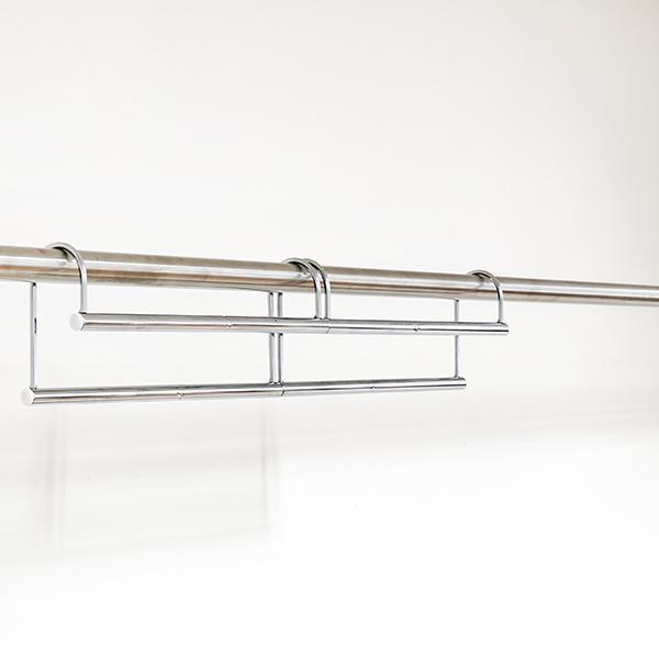 ハンガー 衣類収納アップハンガー 幅60.5〜90×奥行6×高さ12cm 伸縮式衣類収納アップハンガー ( 収納 衣類ハンガー コート収納 段違い コート掛け 日本製 ) interior-palette 11