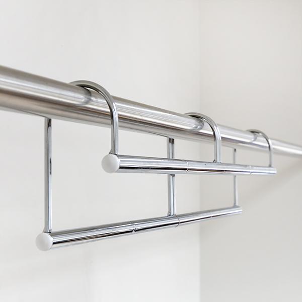 ハンガー 衣類収納アップハンガー 幅60.5〜90×奥行6×高さ12cm 伸縮式衣類収納アップハンガー ( 収納 衣類ハンガー コート収納 段違い コート掛け 日本製 ) interior-palette 04