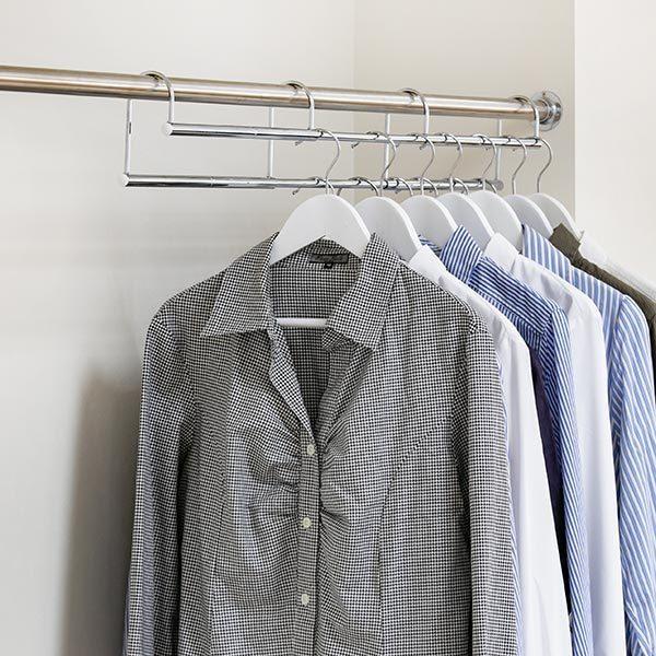 ハンガー 衣類収納アップハンガー 幅60.5〜90×奥行6×高さ12cm 伸縮式衣類収納アップハンガー ( 収納 衣類ハンガー コート収納 段違い コート掛け 日本製 ) interior-palette 05