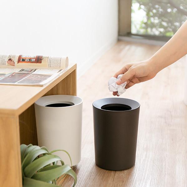 ゴミ箱 2L カバー付き 袋が見えない ごみ箱 ダストボックス 屑入れ 丸型 小さめ 洗面台 卓上 ( ミニ 小さい 丸 スリム フタなし 袋 見えない 2 リットル )|interior-palette|11