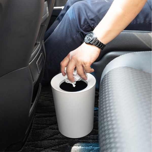 ゴミ箱 2L カバー付き 袋が見えない ごみ箱 ダストボックス 屑入れ 丸型 小さめ 洗面台 卓上 ( ミニ 小さい 丸 スリム フタなし 袋 見えない 2 リットル )|interior-palette|12