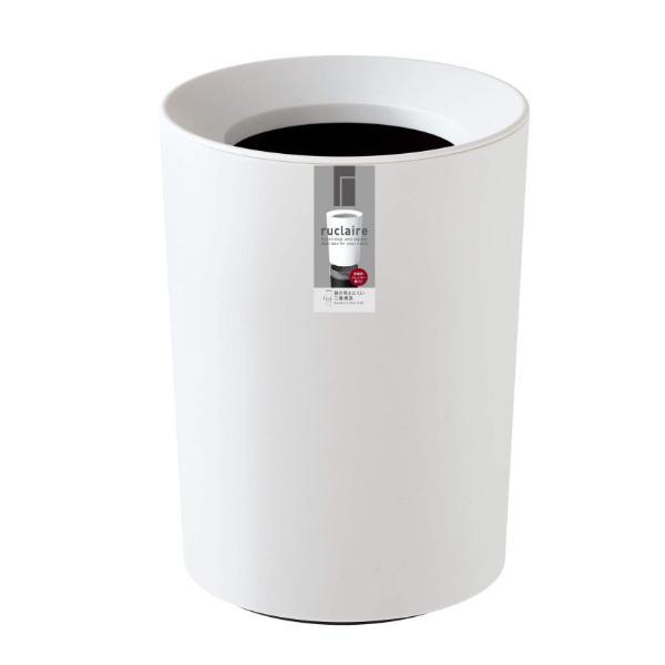 ゴミ箱 2L カバー付き 袋が見えない ごみ箱 ダストボックス 屑入れ 丸型 小さめ 洗面台 卓上 ( ミニ 小さい 丸 スリム フタなし 袋 見えない 2 リットル )|interior-palette|13