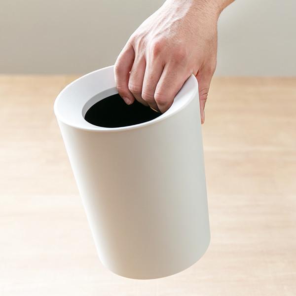 ゴミ箱 2L カバー付き 袋が見えない ごみ箱 ダストボックス 屑入れ 丸型 小さめ 洗面台 卓上 ( ミニ 小さい 丸 スリム フタなし 袋 見えない 2 リットル )|interior-palette|08