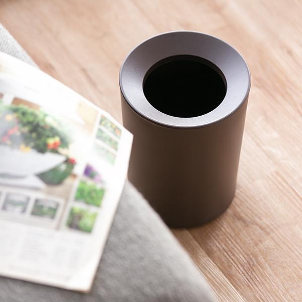 ゴミ箱 2L カバー付き 袋が見えない ごみ箱 ダストボックス 屑入れ 丸型 小さめ 洗面台 卓上 ( ミニ 小さい 丸 スリム フタなし 袋 見えない 2 リットル )|interior-palette|10
