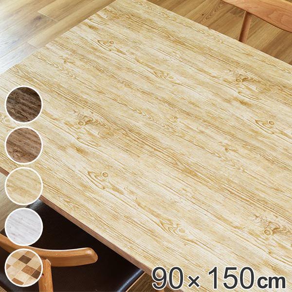 テーブルデコレーション 貼ってはがせる 商店 90cm×150cm クラッシュウッド テーブルクロス 撥水加工 手数料無料 保護シート 机 日本製 テーブル ビニール テーブルシート