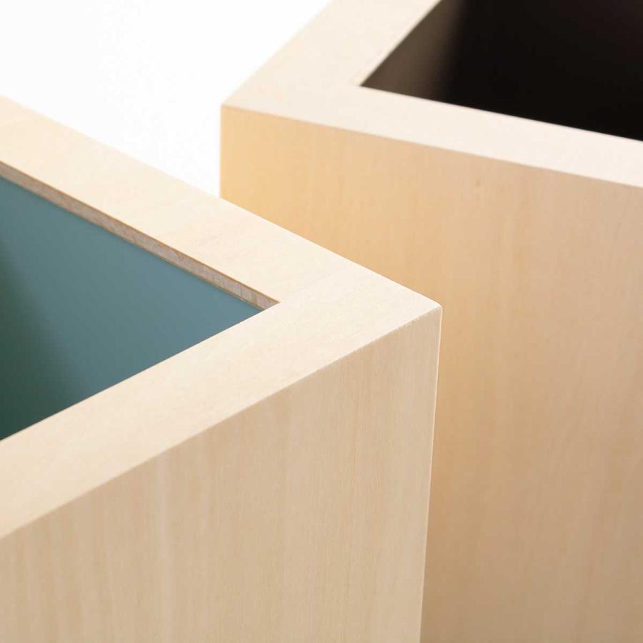 ゴミ箱 木製 4L W CUBE カバー付き おしゃれ くず入れ ダストボックス 日本製 ( ごみ箱 キッチン くずかご くずいれ )|interior-palette|12