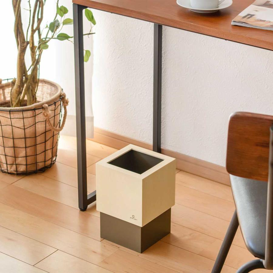 ゴミ箱 木製 4L W CUBE カバー付き おしゃれ くず入れ ダストボックス 日本製 ( ごみ箱 キッチン くずかご くずいれ )|interior-palette|14