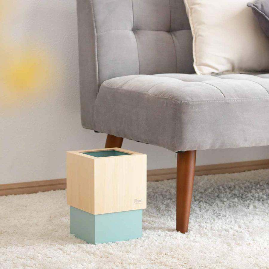 ゴミ箱 木製 4L W CUBE カバー付き おしゃれ くず入れ ダストボックス 日本製 ( ごみ箱 キッチン くずかご くずいれ )|interior-palette|17