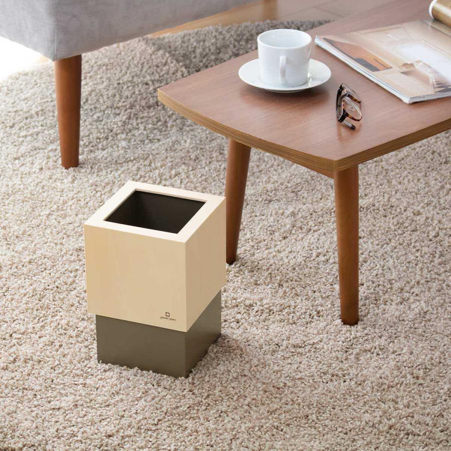 ゴミ箱 木製 4L W CUBE カバー付き おしゃれ くず入れ ダストボックス 日本製 ( ごみ箱 キッチン くずかご くずいれ )|interior-palette|20