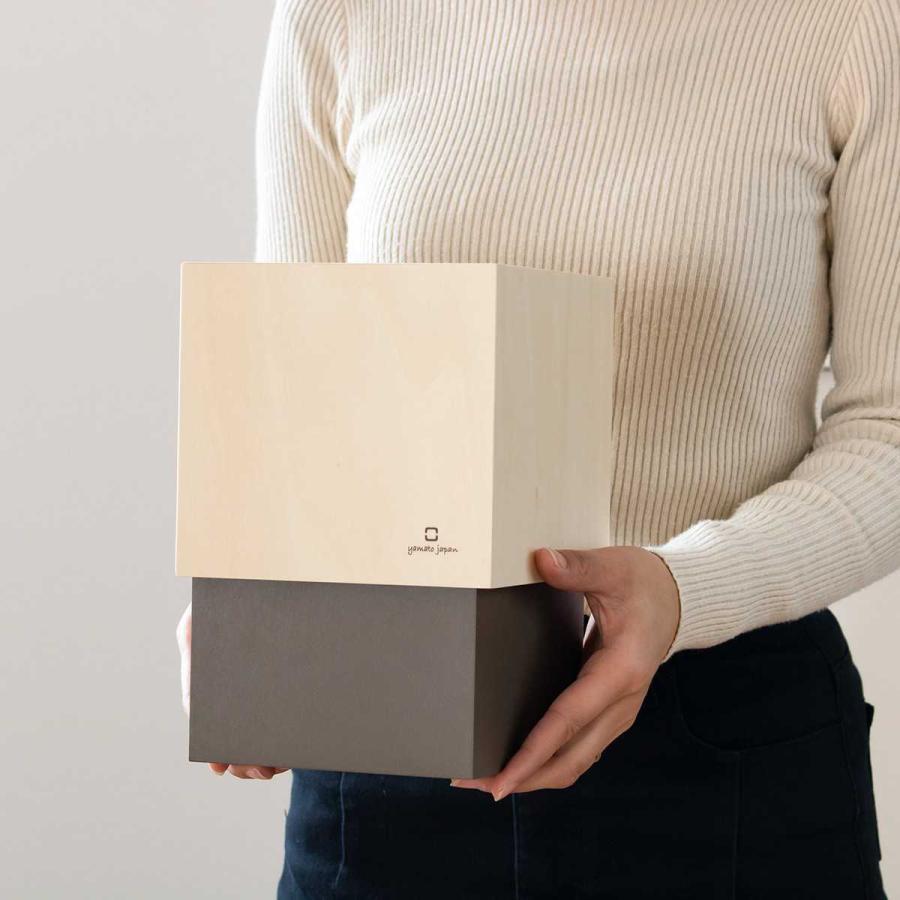 ゴミ箱 木製 4L W CUBE カバー付き おしゃれ くず入れ ダストボックス 日本製 ( ごみ箱 キッチン くずかご くずいれ )|interior-palette|09