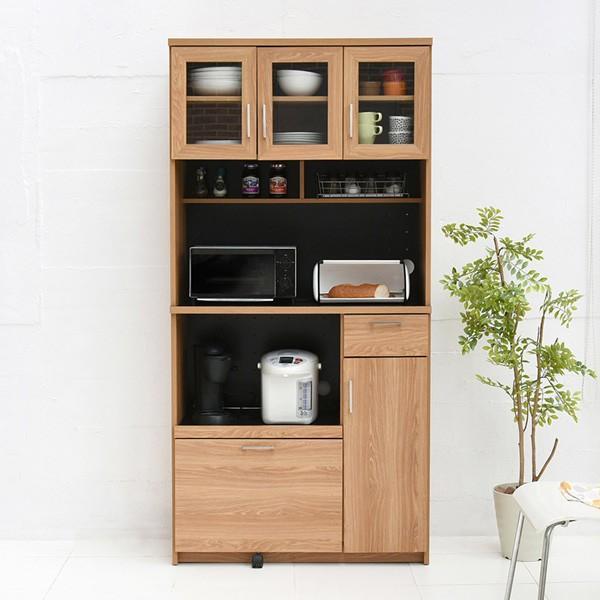 レンジ台 キッチンラック 食器棚 北欧風 Keittio 幅90cm ( レンジボード キッチン収納 レンジラック 90幅 )|interior-palette