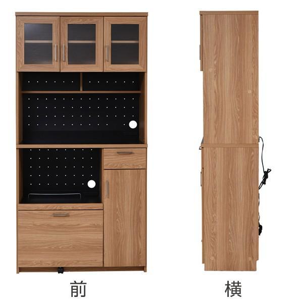 レンジ台 キッチンラック 食器棚 北欧風 Keittio 幅90cm ( レンジボード キッチン収納 レンジラック 90幅 )|interior-palette|03