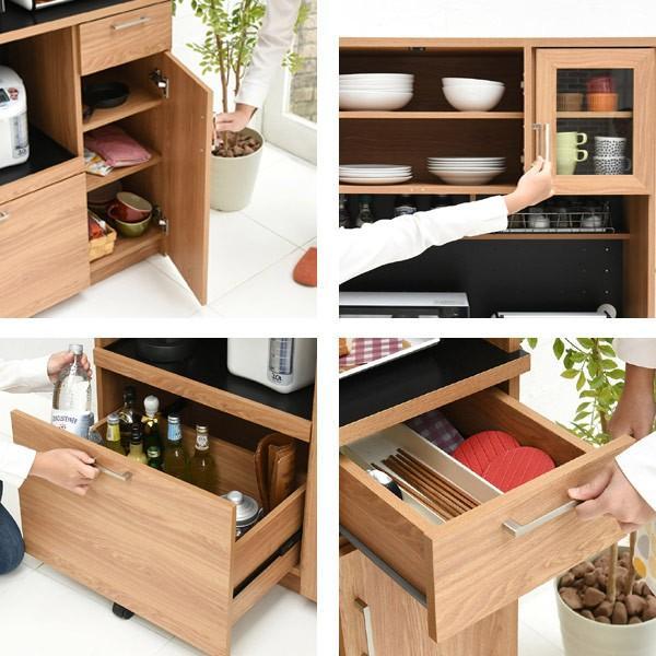 レンジ台 キッチンラック 食器棚 北欧風 Keittio 幅90cm ( レンジボード キッチン収納 レンジラック 90幅 )|interior-palette|05