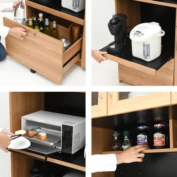 レンジ台 キッチンラック 食器棚 北欧風 Keittio 幅90cm ( レンジボード キッチン収納 レンジラック 90幅 )|interior-palette|06
