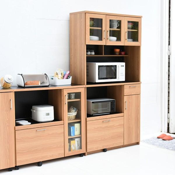 レンジ台 キッチンラック 食器棚 北欧風 Keittio 幅90cm ( レンジボード キッチン収納 レンジラック 90幅 )|interior-palette|08