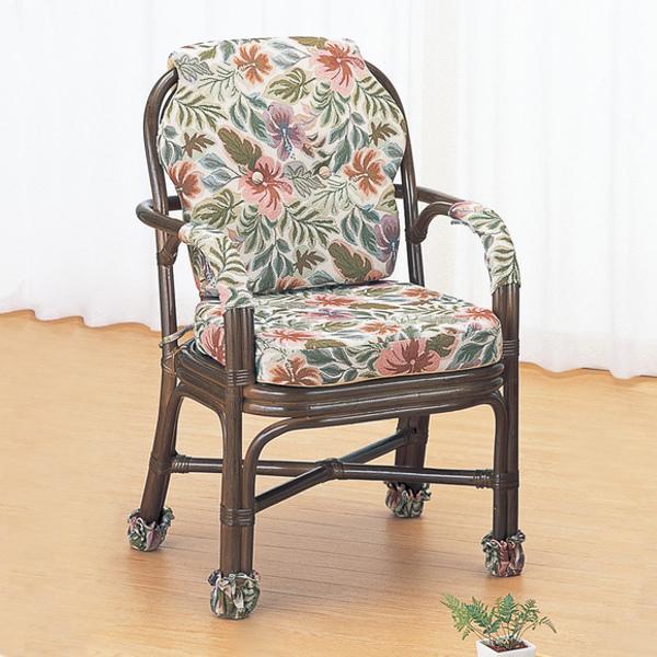 アームチェア ラタン ハイタイプ 籐家具 座面高44cm アームチェア ラタン ハイタイプ 籐家具 座面高44cm