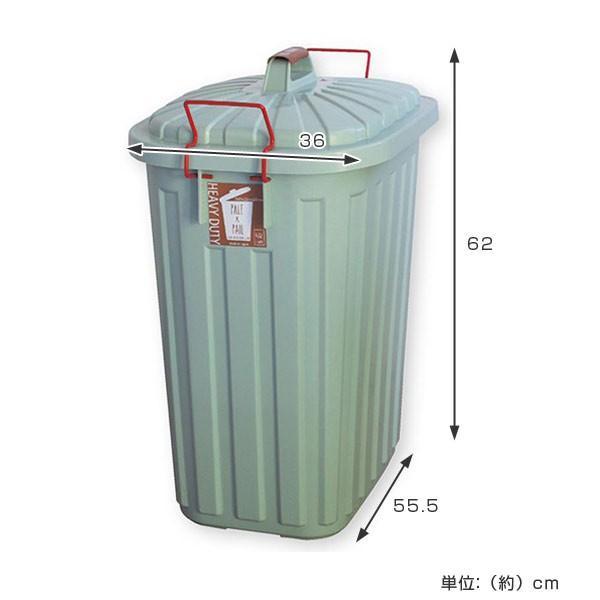 ゴミ箱 屋外 ふた付き PALE×PAIL ペールペール ダストビン 60L 大容量 ( ごみ箱 キッチン 60 リットル ダストボックス )|interior-palette|04