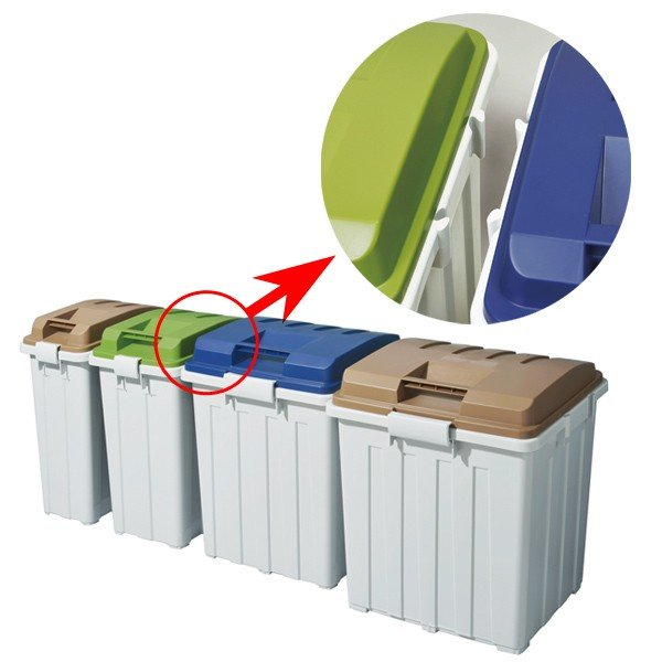 ゴミ箱 ふた付き 連結ハンドルペール 90L ( 屋外 大容量 大型 )|interior-palette|06