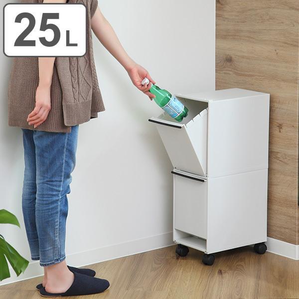 ゴミ箱 分別 縦型 2段 分別ワゴン 分別ごみ箱 スリム ( ごみ箱 キッチン 分別 )