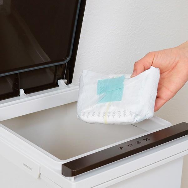 ゴミ箱 分別 2段 スリム パッキン付き 防臭 38L 縦型 分別ゴミ箱 ベーシックカラー ( キッチン 分別 ごみ箱 ふた付き プッシュ ペダル )|interior-palette|18