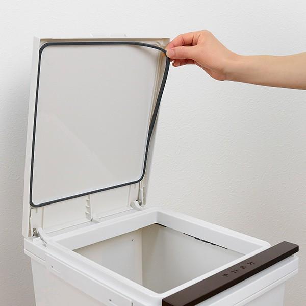 ゴミ箱 分別 2段 スリム パッキン付き 防臭 38L 縦型 分別ゴミ箱 ベーシックカラー ( キッチン 分別 ごみ箱 ふた付き プッシュ ペダル )|interior-palette|08