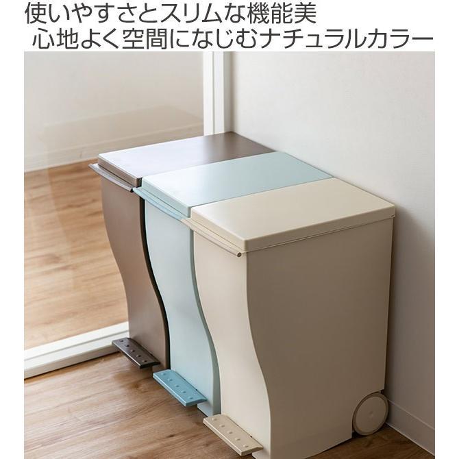 ゴミ箱 クード スリムペダル 33L kcud 分別 ふた付き キャスター付き ( ごみ箱 キッチン スリム パステル )|interior-palette|02
