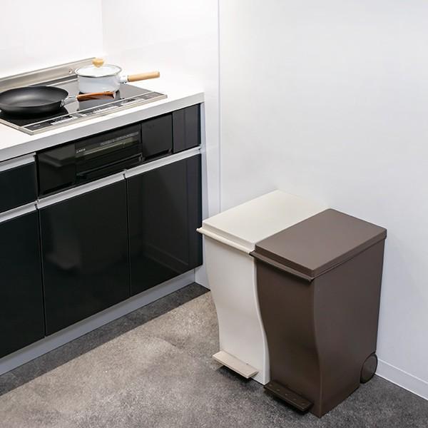 ゴミ箱 クード スリムペダル 33L kcud 分別 ふた付き キャスター付き ( ごみ箱 キッチン スリム パステル )|interior-palette|12