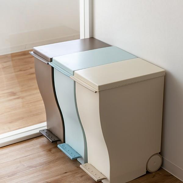 ゴミ箱 クード スリムペダル 33L kcud 分別 ふた付き キャスター付き ( ごみ箱 キッチン スリム パステル )|interior-palette|14