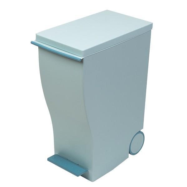 ゴミ箱 クード スリムペダル 33L kcud 分別 ふた付き キャスター付き ( ごみ箱 キッチン スリム パステル )|interior-palette|08