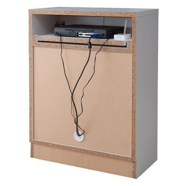 カウンター下収納 キャビネット デスクタイプ キャスター扉 幅60cm ( キッチン収納 リビング 窓下 パソコンデスク ) interior-palette 12