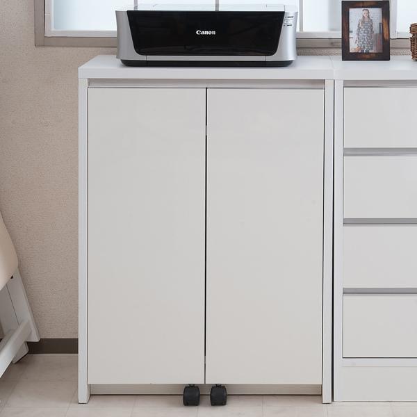 カウンター下収納 キャビネット デスクタイプ キャスター扉 幅60cm ( キッチン収納 リビング 窓下 パソコンデスク ) interior-palette 13