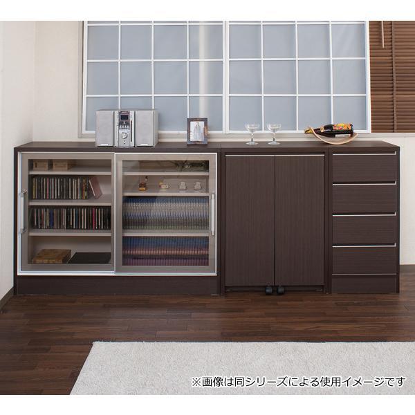 カウンター下収納 キャビネット デスクタイプ キャスター扉 幅60cm ( キッチン収納 リビング 窓下 パソコンデスク ) interior-palette 17