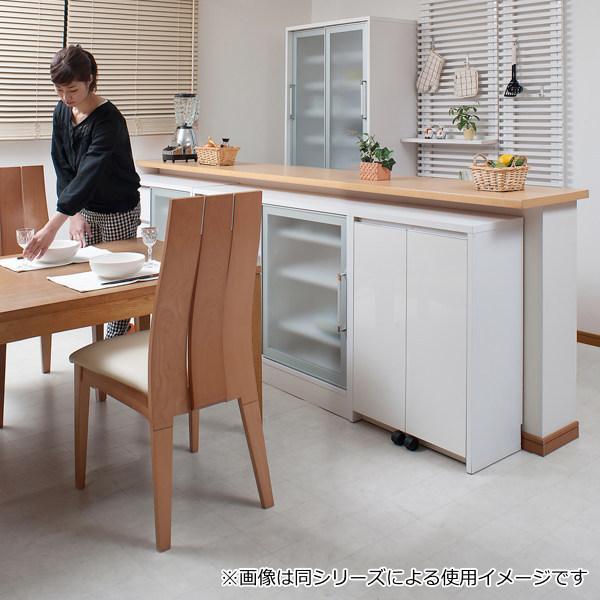 カウンター下収納 キャビネット デスクタイプ キャスター扉 幅60cm ( キッチン収納 リビング 窓下 パソコンデスク ) interior-palette 18