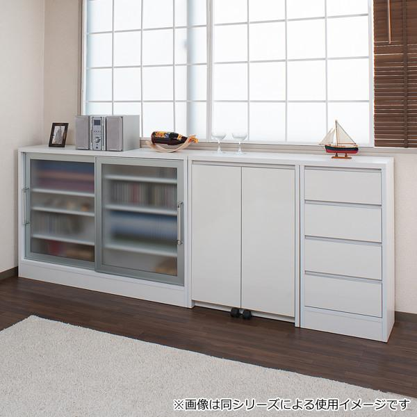 カウンター下収納 キャビネット デスクタイプ キャスター扉 幅60cm ( キッチン収納 リビング 窓下 パソコンデスク ) interior-palette 06