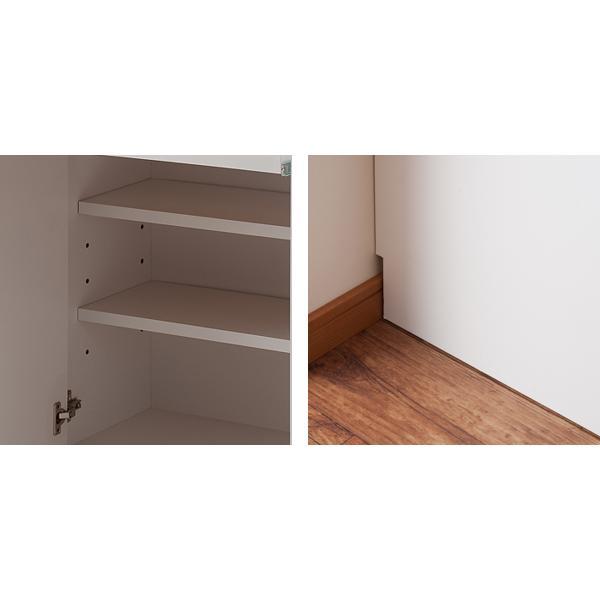 カウンター下収納 キャビネット デスクタイプ キャスター扉 幅60cm ( キッチン収納 リビング 窓下 パソコンデスク ) interior-palette 10