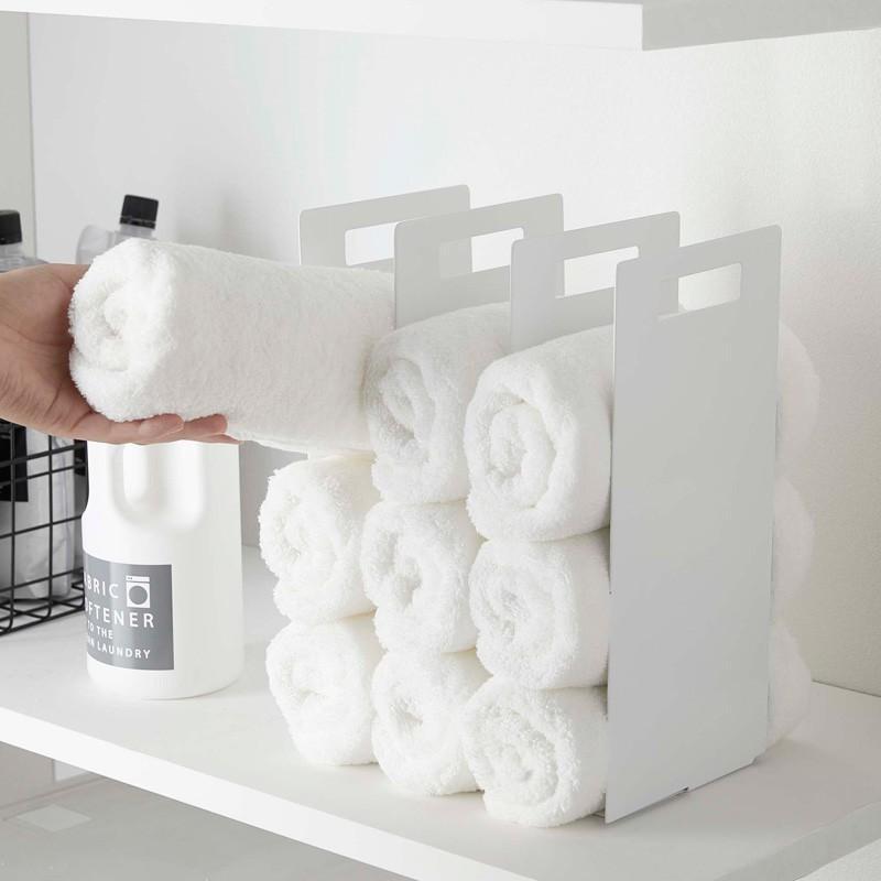 所 アイデア 収納 洗面 タオル