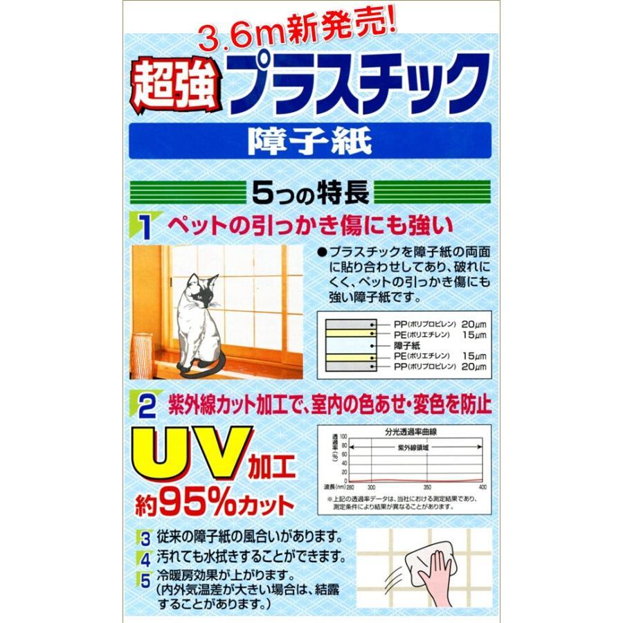 アサヒペン・超強プラスチック障子紙1本長さ3.6m(180cm×2枚分)・専用両面テープ2巻付|interior-yulala|02