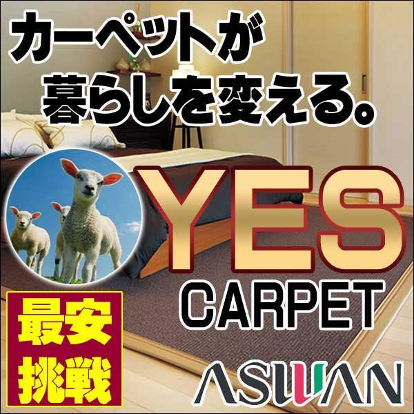カーペット 激安 毛100% ウールアスワンカーペットラグ マット(200×300cm)広巾テープ加工 カーペット:アスメロディII/MDY