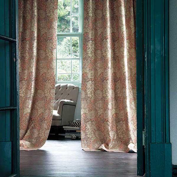 送料無料 川島セルコン 高級オーダーカーテン filo スタンダード縫製 約1.5倍ヒダ Morris Design Studio ラーモ FF1038