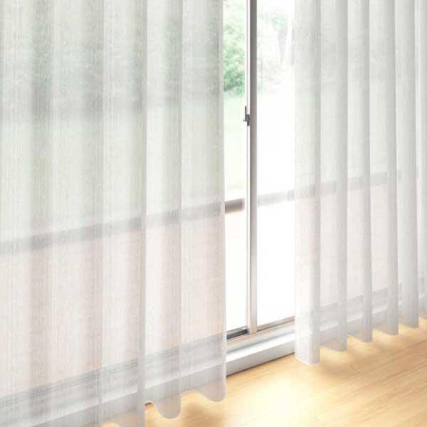 送料無料 川島セルコン 高級オーダーカーテン filo スタンダード縫製 約1.5倍ヒダ レース Transparent ユキツ FF1225