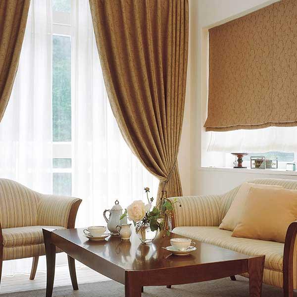 カーテン シェード 川島織物セルコン 遮光 FT6482〜6483 ファインウェーブ縫製 約2倍ヒダ