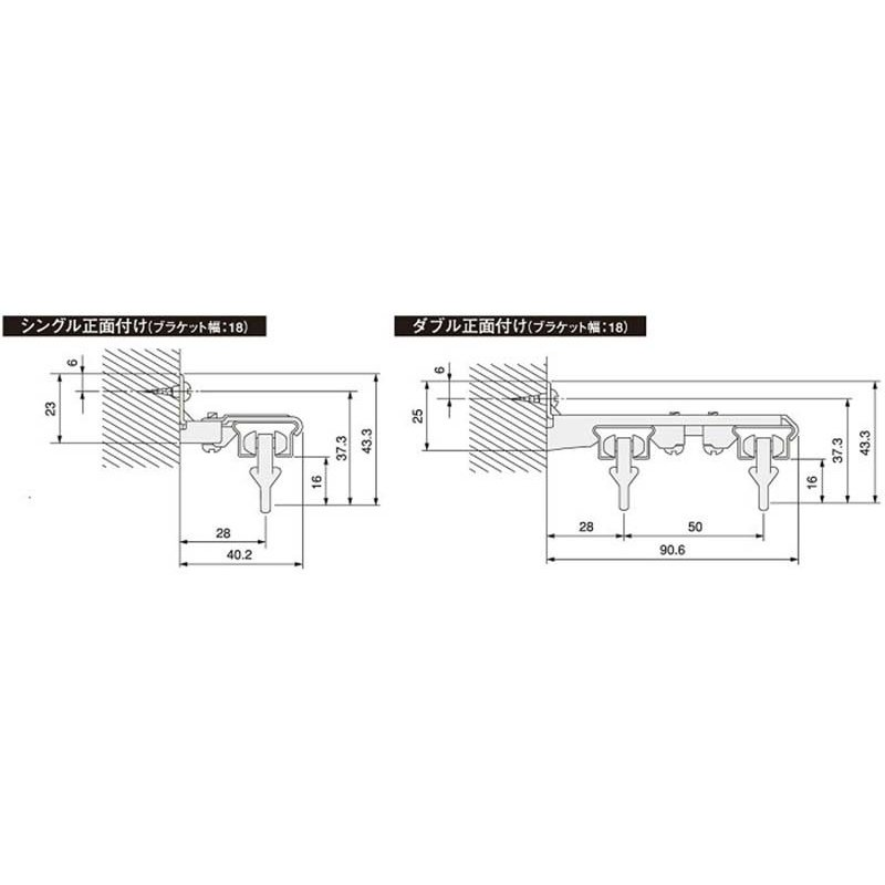 伸縮レール 激安サービス品! タチカワの超激安カーテンレール! フリータッチ シングル1.1m〜2.0m●アンバー|interiorkataoka|05