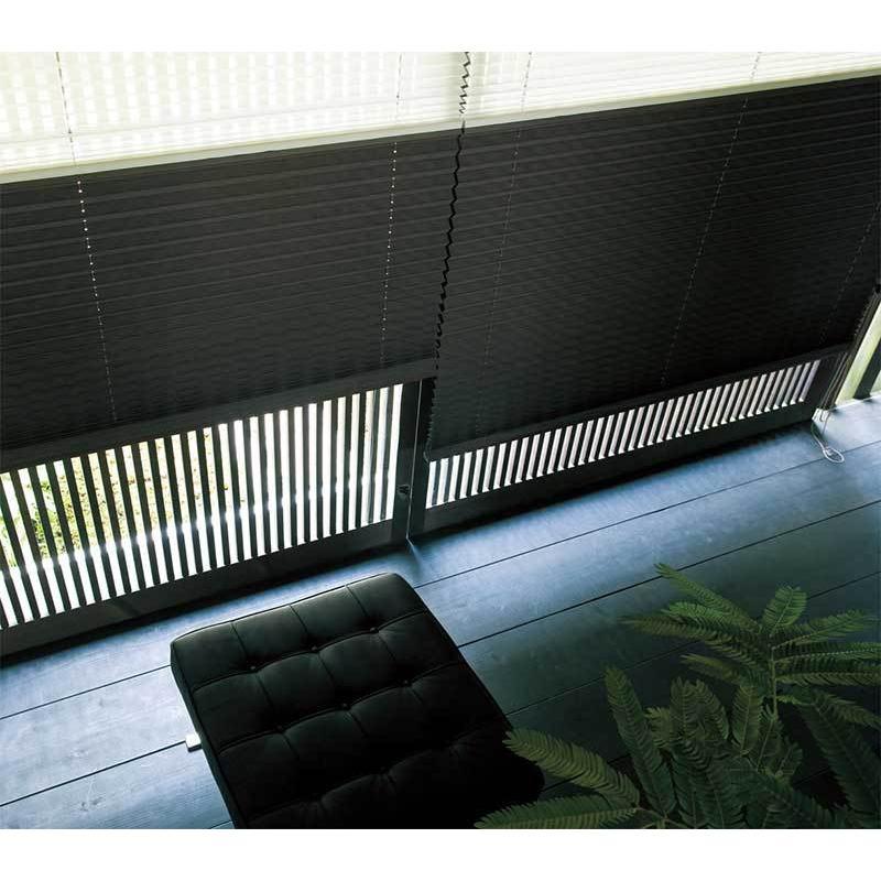 トーソー プリーツスクリーン しおり 25(D価格帯) シングル コード ファブリック 木肌(きはだ) 幅 200×高さ 60cm まで interiorkataoka 02