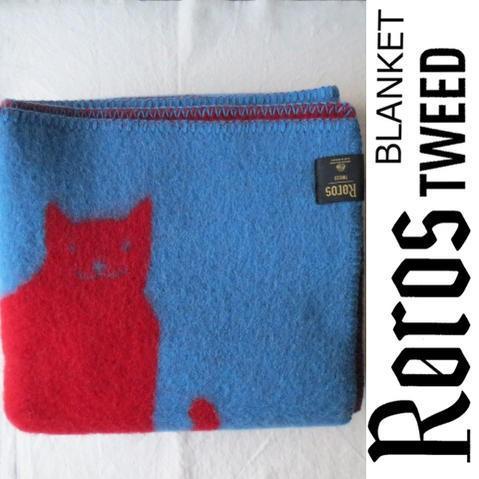 ROROS TWEED / ロロス ツイード ブランケットGATTO-MINI / 青/赤 by AOI HUBER-KONO / ガット-ミニ 色:ブルー・レッドby 葵 フーバー 河野 1
