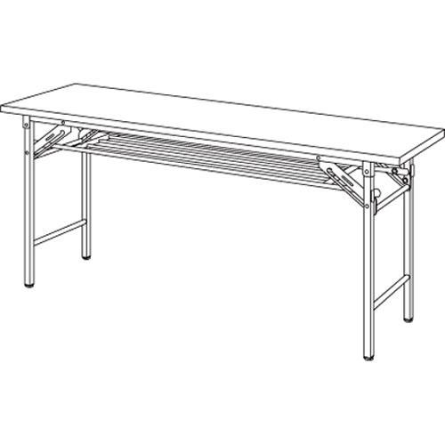 弘益 折りたたみテーブル チーク YKT-1545SE(TE) 1台