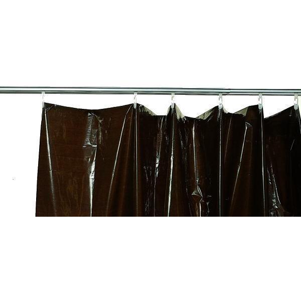 情熱セール 定番から日本未入荷 養生日除カーテン 濃茶 巾2m×高さ1.85m 5枚入 467-26