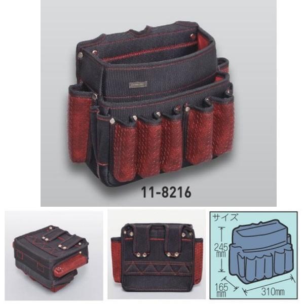 極東産機 マーケティング ツールバッグワイド BLACKamp;RED 11-8216 約220×70mm 今ダケ送料無料
