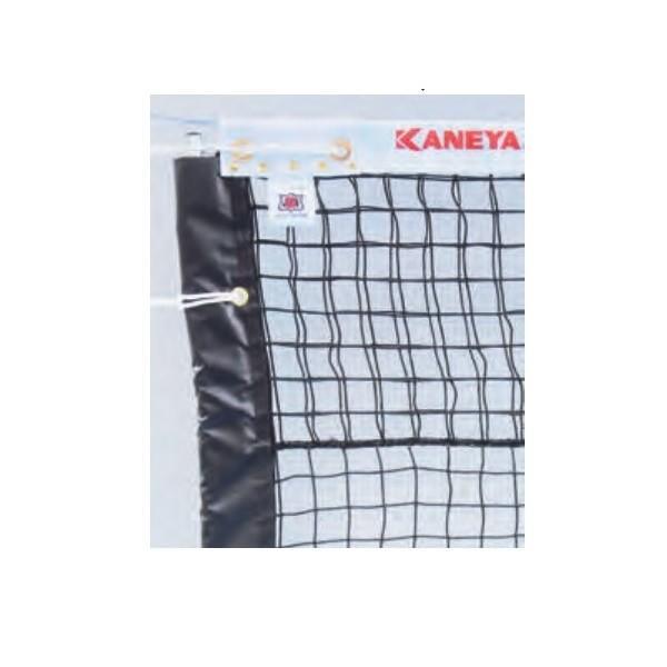 カネヤ SALE 硬式テニスネット 金属タイプ 期間限定特別価格 上部ダブルネット K-1228P 黒 幅1.07m×長12.65m